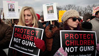 The US Senate votes for a debate on reforming gun laws following Sandy Hook.