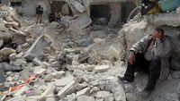 Syrian government troops are deliberately bombing civilians, a report from Human Rights Watch says (picture: Reuters)