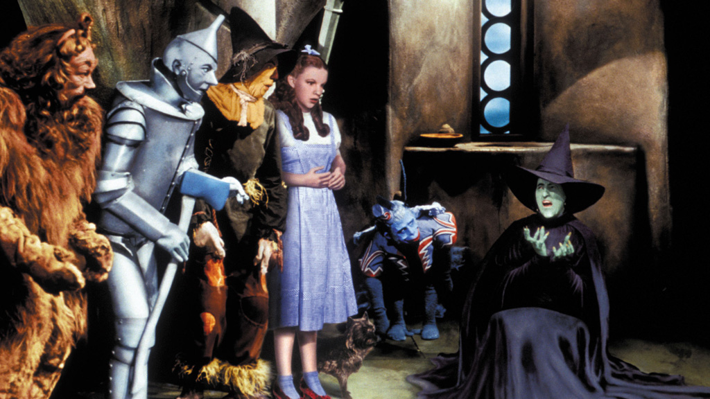 An image from 1939 film The Wizard of Oz.