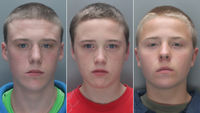 (l-r) Brandon Doran, Connor Doran and Simon Evans, who have been jailed for the murder of a homeless man, Kevin Bennett (pictures: Merseyside Police)
