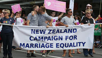 Gay marriage campaigners in New Zealand (Getty)