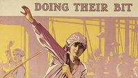 World War One recruiting poster encouraging women to work