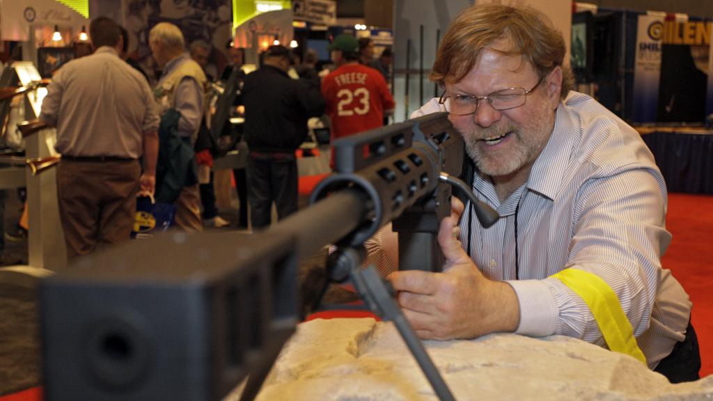 Gun enthusiast at NRA convention