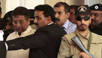 Musharraf flees after Pakistani court orders his arrest (R)