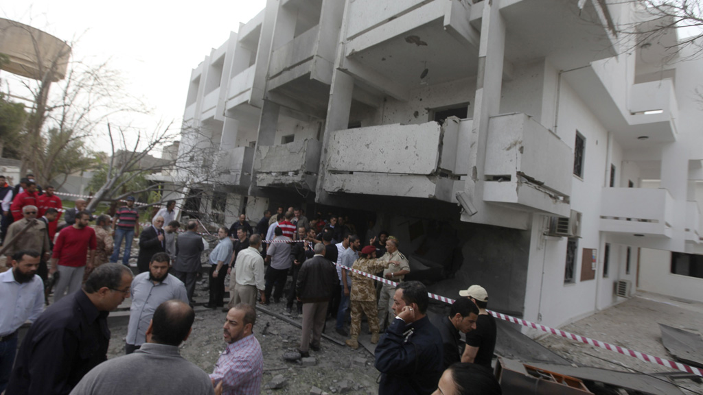 A car bomb attack hit the French embassy in Libya in the early hours of Tuesday morning (pictures: Reuters)