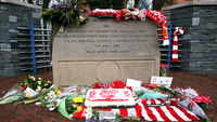 Tributes are laid at the Hillsborough Stadium ahead of the 20th anniversary (G)