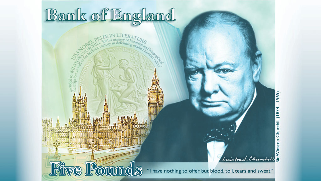 Winston Churchill will be on the next batch of five pound notes.
