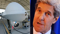 John Kerry says the US drone strike programme in Pakistan could end soon (pictures: Getty/Reuters)
