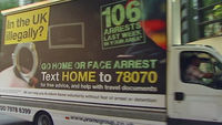 Two-thirds of responses to government 'go home' vans were hoaxes, Home Office says