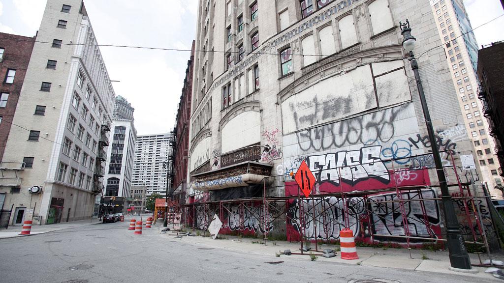 Detroit vandalised streets (getty)
