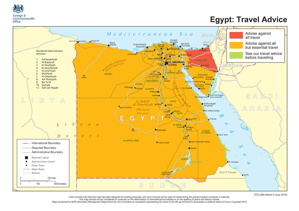 UK Tells Egypt Travellers Stay Within Beach Resorts Channel News - Map of egypt beach resorts