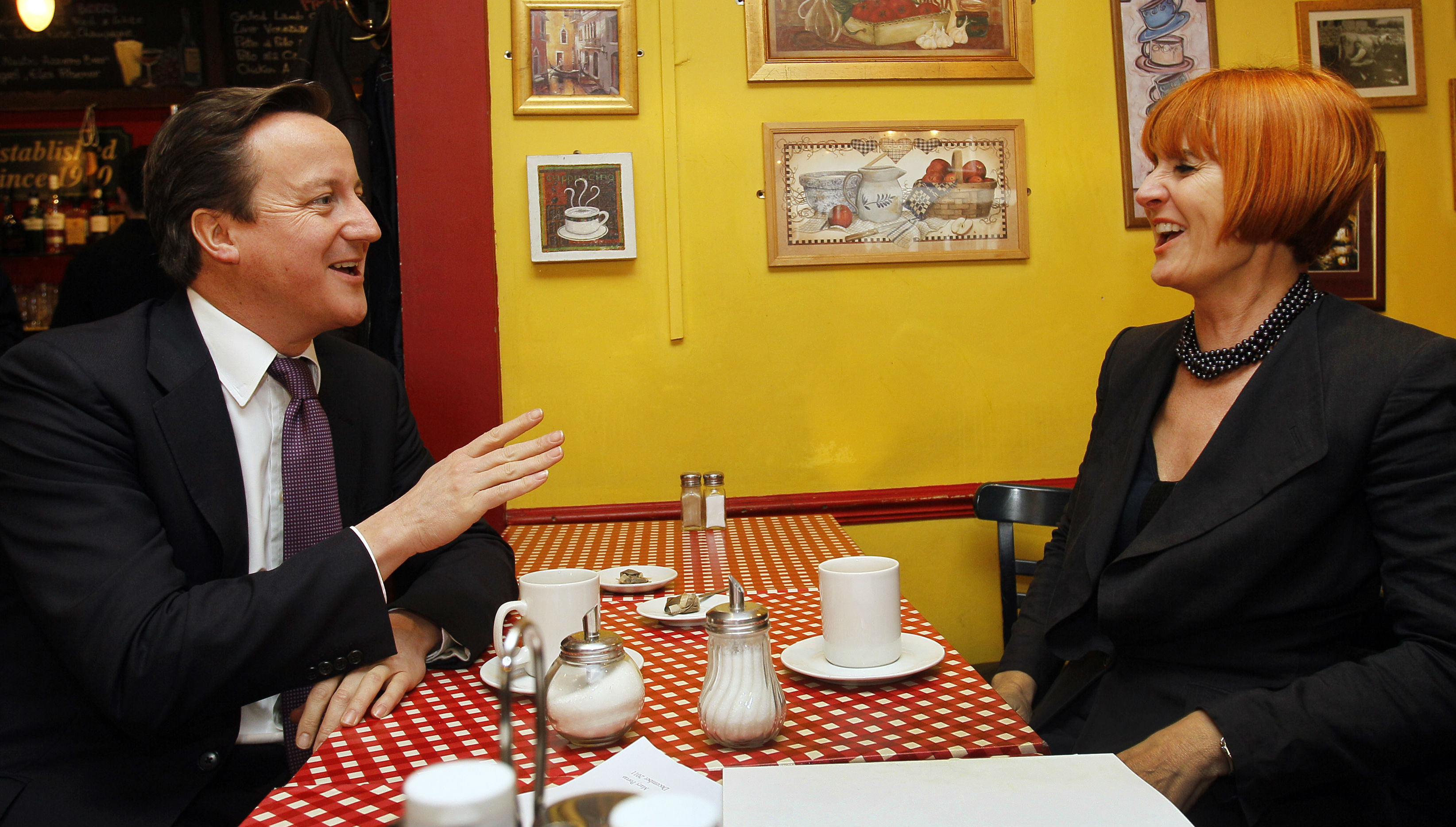 Mary Portas and David Cameron (reuters)