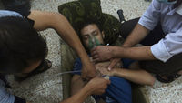 An alleged chemical weapons attack is reported to have killed as many as 1,300 people on Wednesday (picture: Reuters)