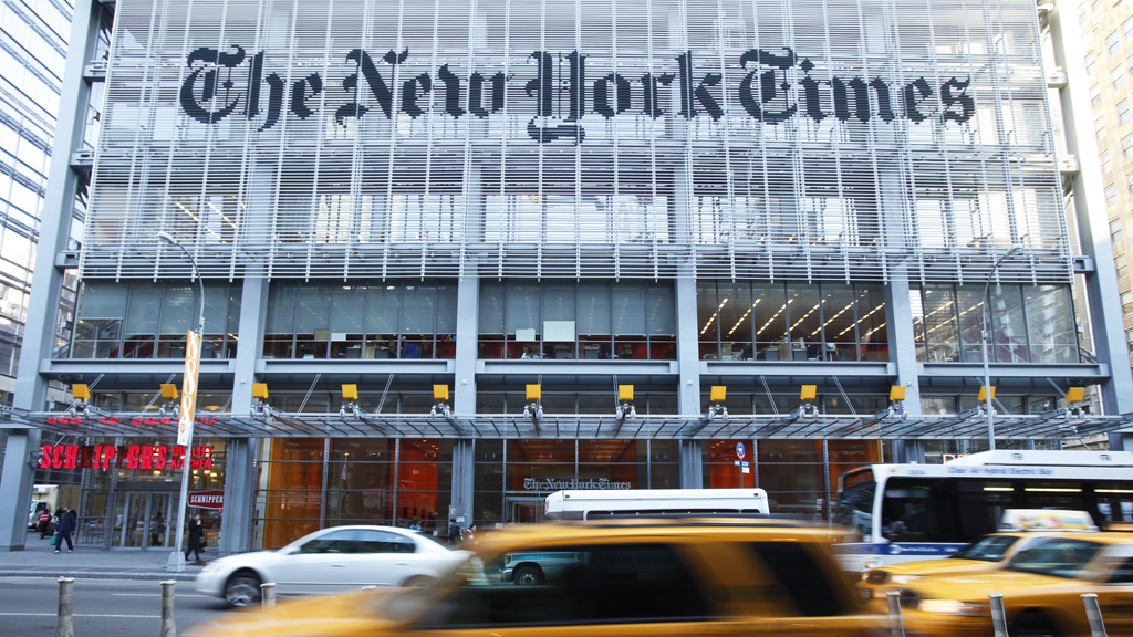 New York Times office (Reuters)
