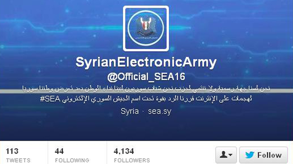 Syrian Electronic Army Twitter feed