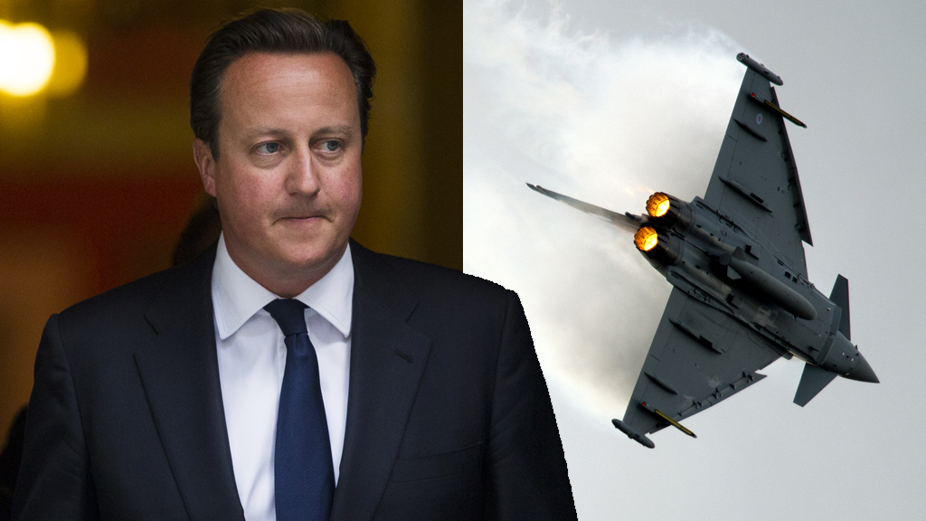 David Cameron and Typhoon jet composite