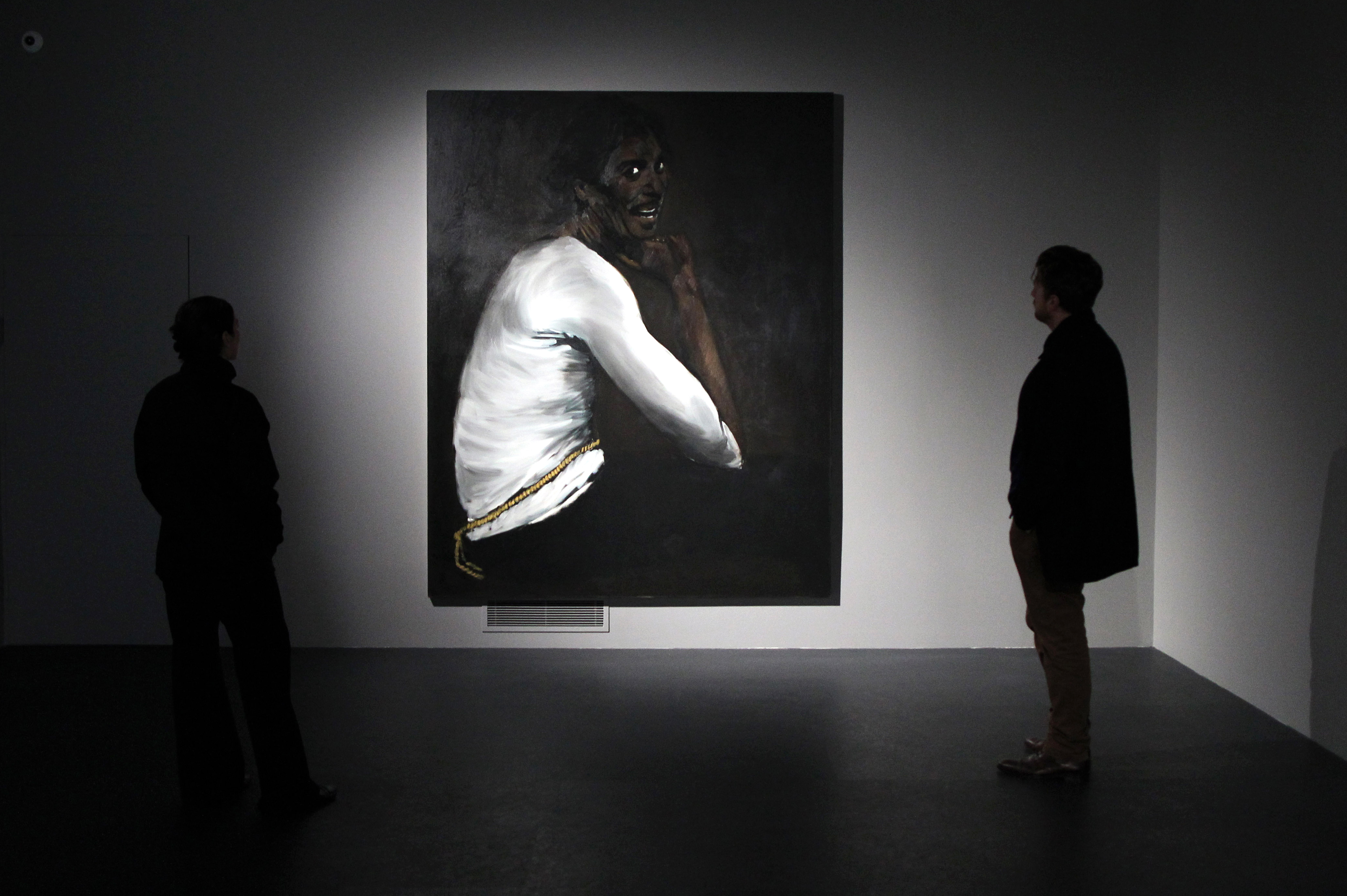 Lynette Yiadom-Boakye's portrait (R)
