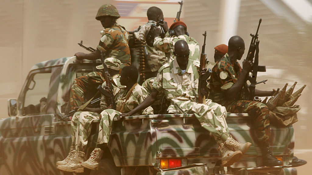 Seleka fighters patrol the Central African Republic's capital Bangui on December 3 2013. (picture: Reuters)