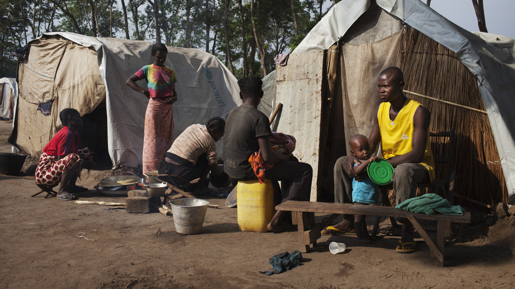 Internally displaced people in the grounds of the Saint Antoine de Padoue cathedral in Bossangoa, Central African Republic. (picture: Reuters)