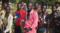 Militia fighters known as anti-balaka pose for a photograph in Mbakate village, Central African Republic November 25, 2013 (picture: Reuters)