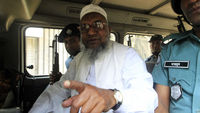 Abdul Quader Mollah in police custody (Reuters)