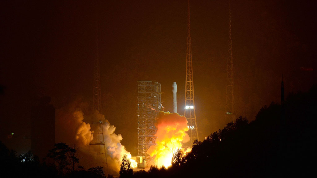 Chang'e leaving earth, Getty Images