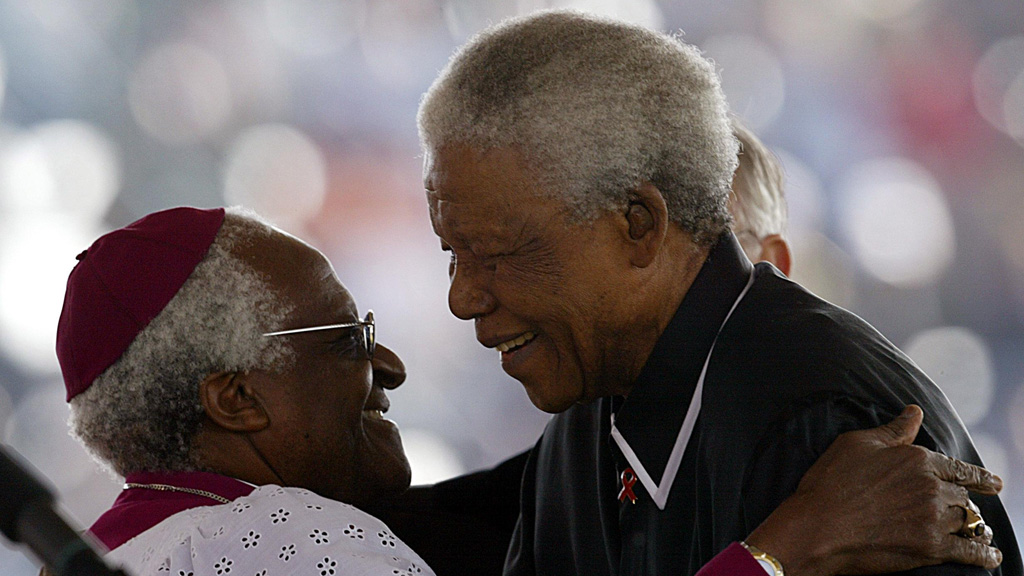 Archbishop Desmond Tutu with Nelson Mandela (picture: Getty)