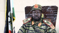President Salva Kiir gives a pres conference, and blames soldiers loyal to Riek Machar, who was dismissed as vice-president in July, for starting the fighting (R)