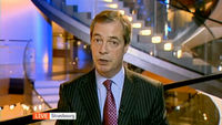Nigel Farage speaking to Channel 4 News from Strasbourg