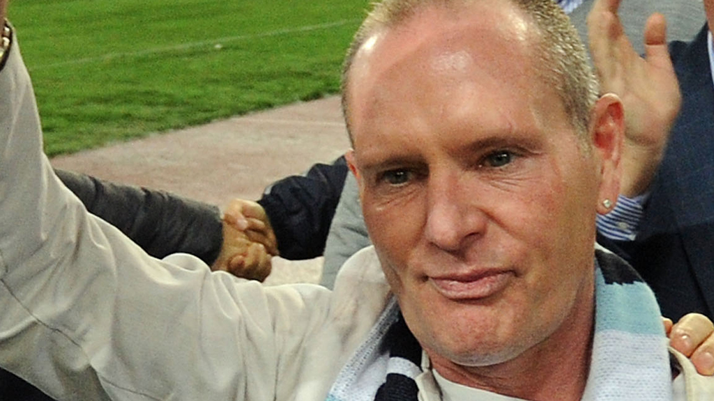 Paul Gascoigne at a football match last year (picture: Getty)