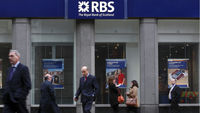 Royal Bank of Scotland is fined almost �400m for its role in the Libor rate-fixing scandal, the third bank forced  to pay a penalty by regulators in Britain and the US (Getty)