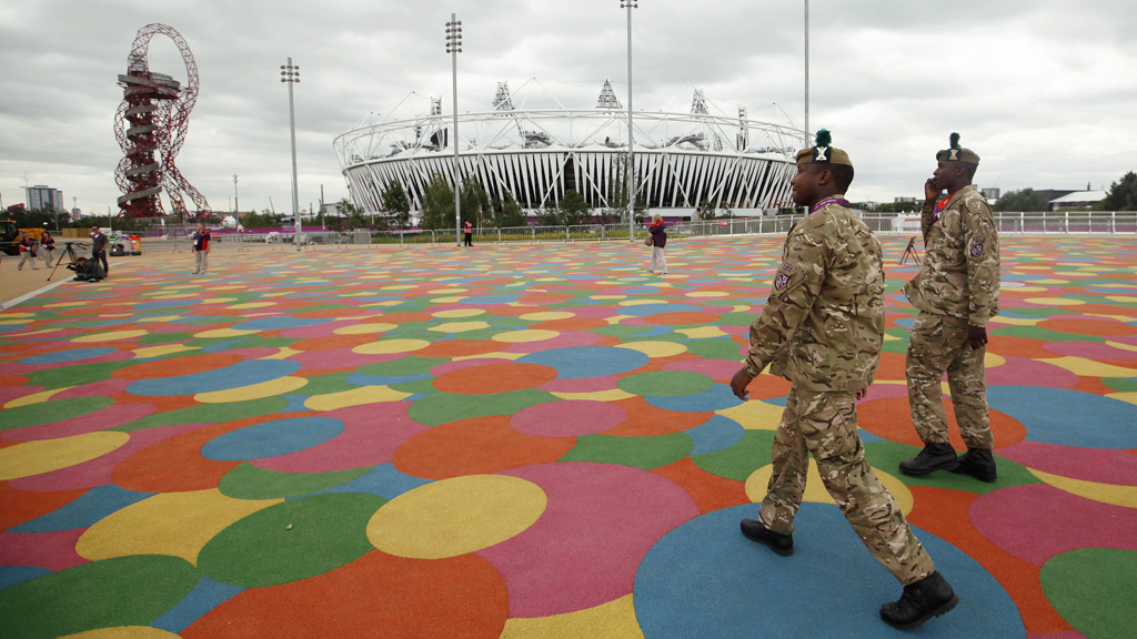 The army and police force were drafted into to fill a 15 per cent gap in Olympic security (picture: Reuters)