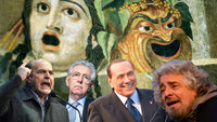 Commedia dell' Vote: Italian's head to the polls (pictures: Getty)