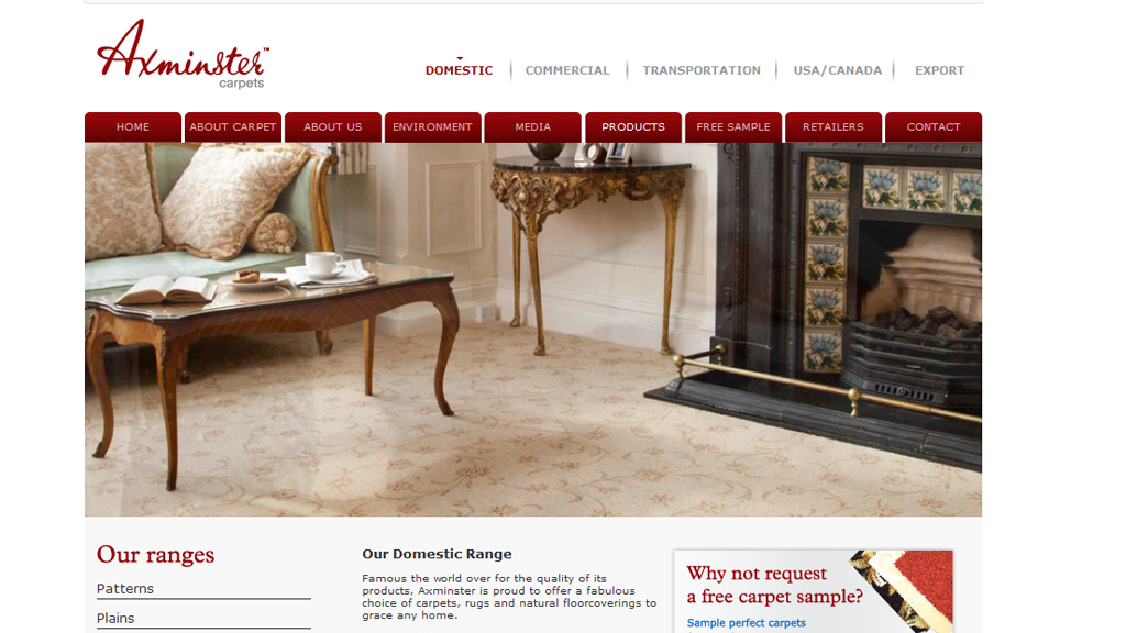 Axminster carpet website.