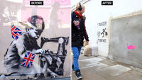 Londoners campaign to bring back Banksy (R)