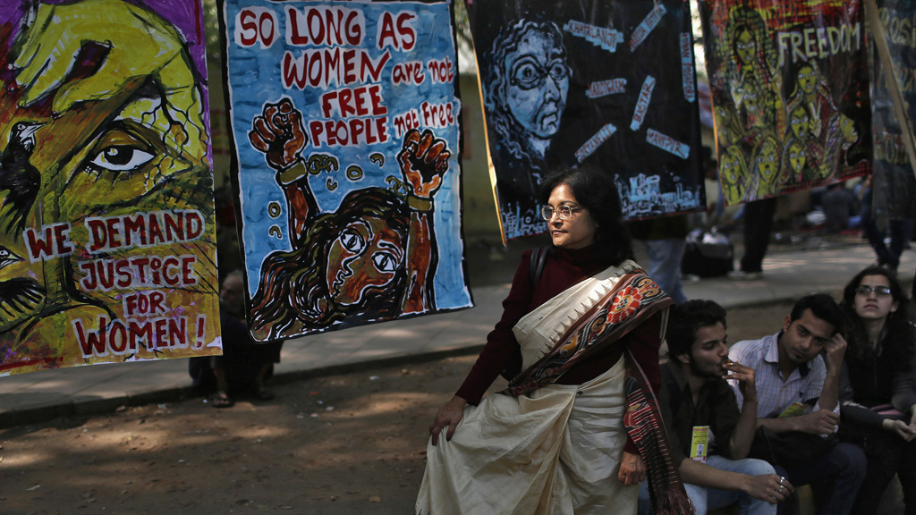 Protestors gathered in Delhi to call for harsher sentences against rapists (picture: Reuters)