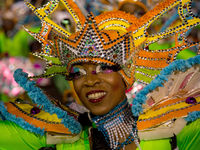 Costumed dancers celebrate during the new year Junkanoo Parade on 1 January, 2013 in Nassau, Bahamas (Getty).