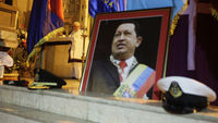 Prayers are held for Hugo Chavez following complications with his cancer treatment surgery (picture: Reuters)