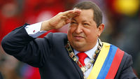 Venezuelan president Hugo Chavez at a parade in February 2012 (picture: Reuters)