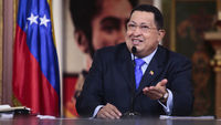 Venezuelan president Hugo Chavez speaking in October 2012, one of his few recent public appearances (picture: Reuters)