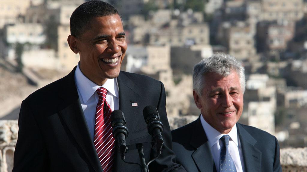 Obama with Hagel