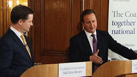 In a mid-term review, the prime minister and his deputy set out their plans to help parents with childcare costs and provide support for elderly people living in care homes.