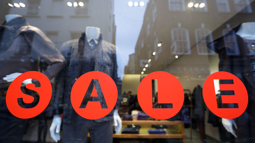Sale sign in window (getty)
