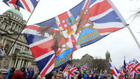 Union flag flies over Belfast City Hall for Kate's birthday (R)