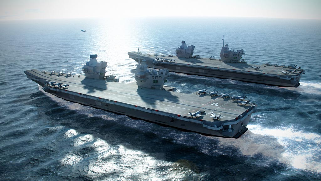 A CGI image of the Queen Elizabeth class aircraft carrier