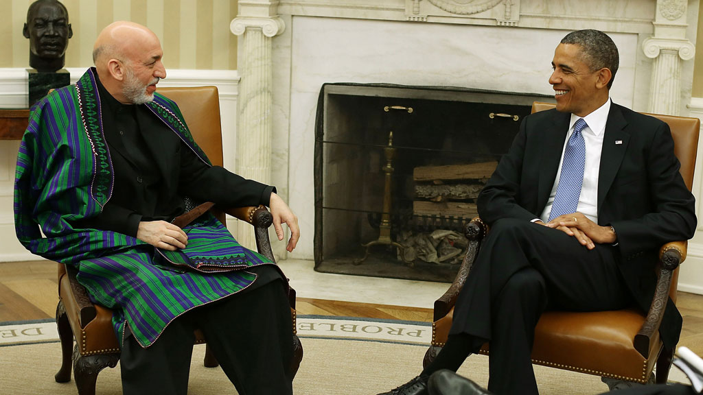Obama and Karzai (getty)