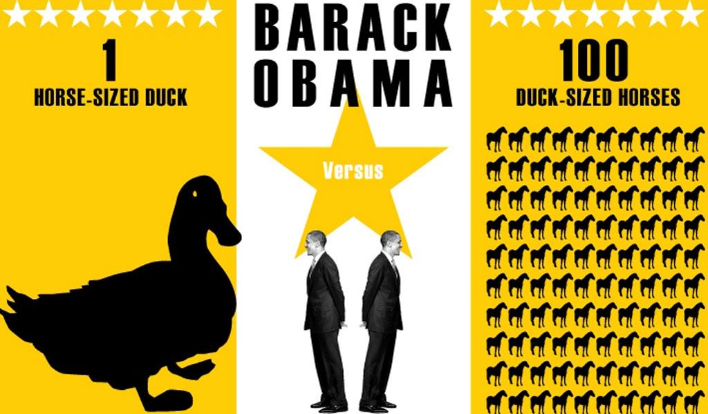 Obama versus ducks and horses graphic