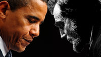 Comparing Presidents Lincoln and Obama  (reuters and getty)