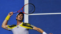 Andy Murray beats Ricardas Berankis in the third round of the Australian Open(Reuters.)