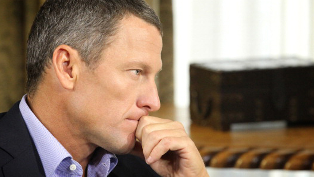 Lance Armstrong during his interview with Oprah Winfrey (picture: Getty)